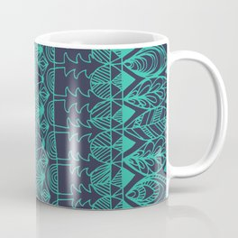Mountain Tapestry in Midnight Teal Coffee Mug