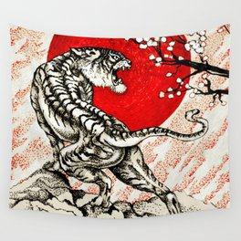 Japan Tiger Wall Tapestry