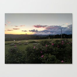 Sunset at Wildflower Inn Canvas Print