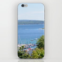 Harbr Springs Bay -View from Bluff (3) iPhone Skin