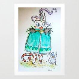 Druid Kitty Art Print