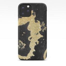 Black & Golden Agate iPhone Case