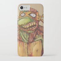 ninja turtle iPhone & iPod Cases featuring zombie ninja turtle by mileshustonart