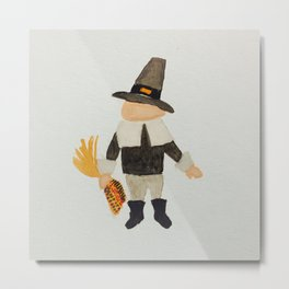 Thanksgiving Pilgrim Puritan Baby Boy Toddler Metal Print