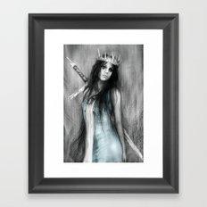 Her Heavy Crown Framed Art Print