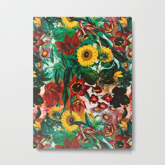 Multicolor Exotic Pattern Metal Print
