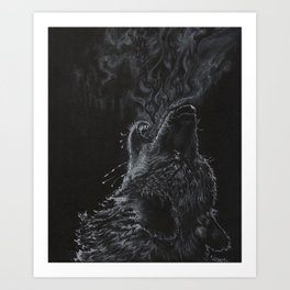 Wolf - The Uneasy Chill Art Print