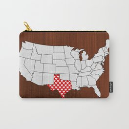 My Heart is in Texas Carry-All Pouch