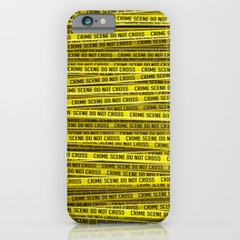 Crime scene / 3D render of endless crime scene tape iPhone Case