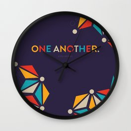 One Another Scripture Poster (Ephesians 4) Wall Clock