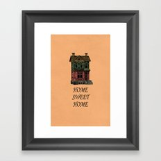 Home Sweet Home Quotes Framed Art Print