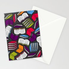 So Many Colorful Books... Stationery Cards