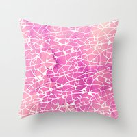 broken Throw Pillows featuring broken by clemm
