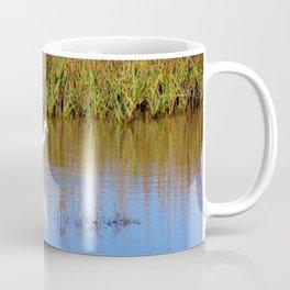 Snowy Egret With Intense Stare Coffee Mug