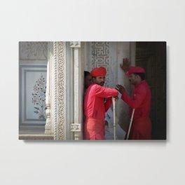 Jaipur City Palace Guards Metal Print