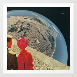 The World is Crowded Art Print