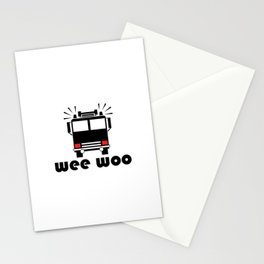 Firetruck Wee Woo Stationery Cards