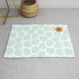 animal crossing cute nook shirt pattern Rug