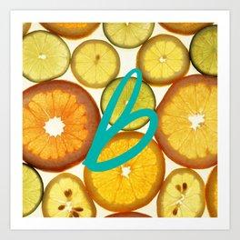 Citrus - Citron (Recettes du Bonheur) Art Print