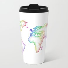 World map Metal Travel Mug