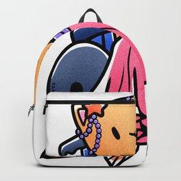 Cat wheelchair mermaid girl gift Backpack