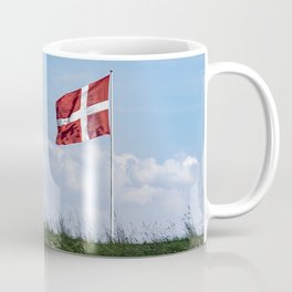 Dannebrog in the wind (Danish national flag) Coffee Mug