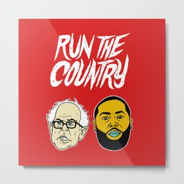 Run The Country Metal Print