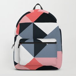 Mid-Century Modern Pattern in Pink, Gray, Black & White Backpack