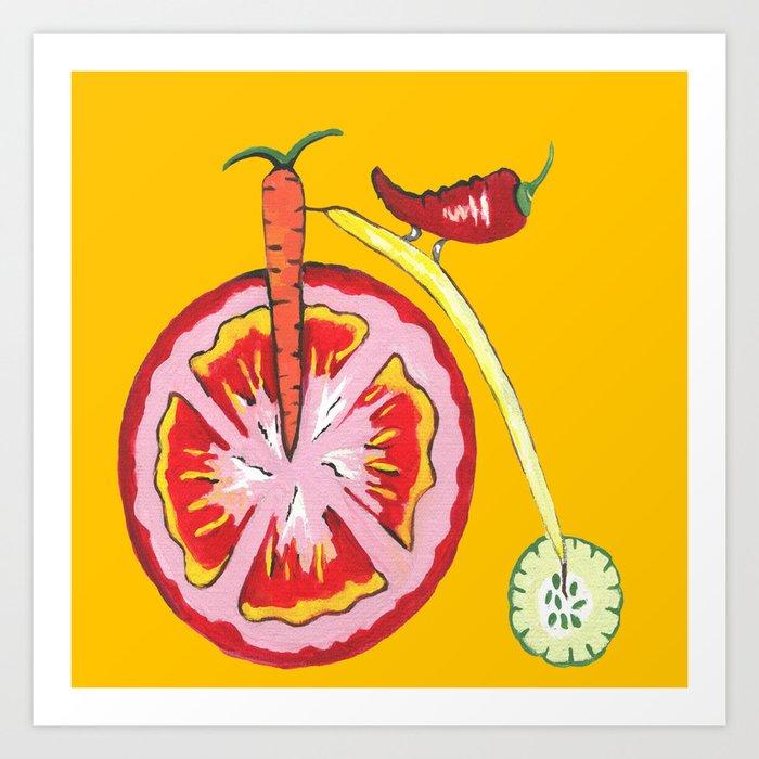 Kitchen Vegetable Art Kunstdrucke