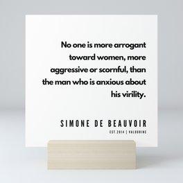17     Simone De Beauvoir Quotes   190605 Mini Art Print