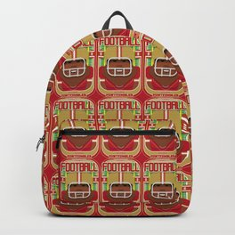 American Football Red and Gold - Enzone Puntfumbler - Hayes version Backpack