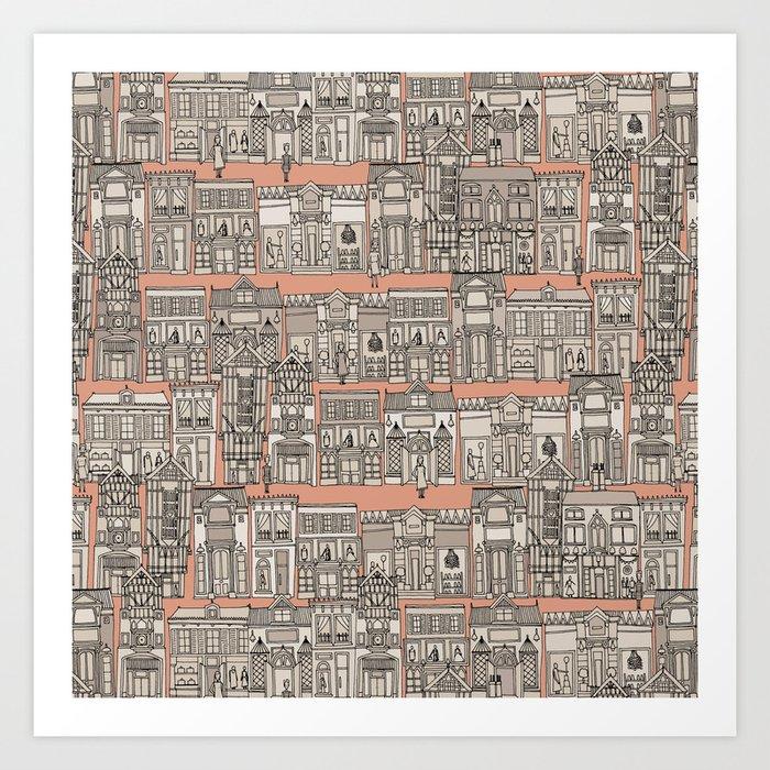 Avenue des Mode Art Print