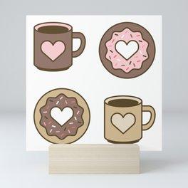 Love Coffee and Donuts Mini Art Print