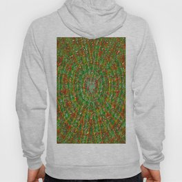 Abstract Green Red Yellow and White Hoody