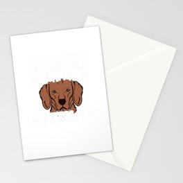 Sorry I Have Plans With My Vizsla Dog Gift Stationery Cards