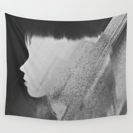 Faceless Charcoal Wall Tapestry