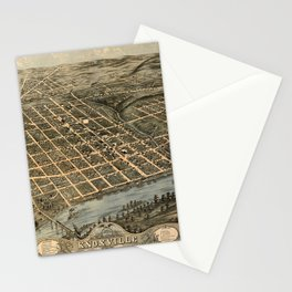 Map Of Knoxville 1871 Stationery Cards