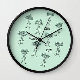 Run Forest Run Wall Clock