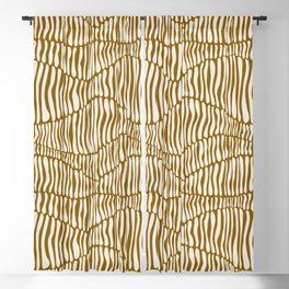 Abstract Soil Layers in Mustard Blackout Curtain