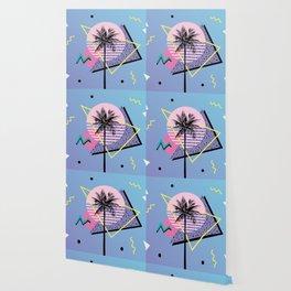 Memphis pattern 46 - 80s / 90s Retro / Palm Tree Wallpaper