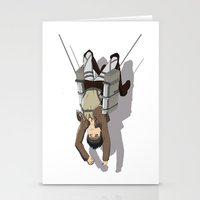 shingeki no kyojin Stationery Cards featuring Attack on Titan -Shingeki no Kyojin by Daniel Zeni