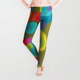 Groovy Retro Waves Leggings
