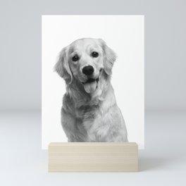 Cute Golden Retriever Mini Art Print