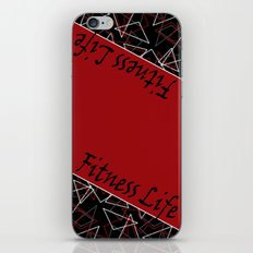 The fitness club . Red black creative pattern . iPhone & iPod Skin