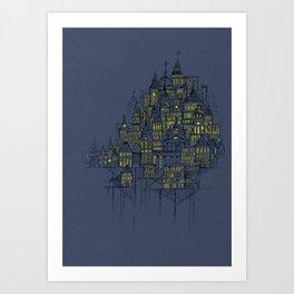 High City Lights Art Print