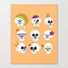 Silly Skulls Canvas Print