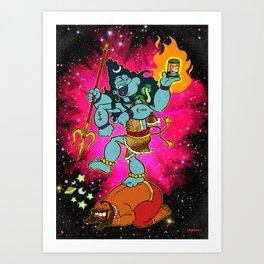 ShivaXPopeyeXNataraja Art Print