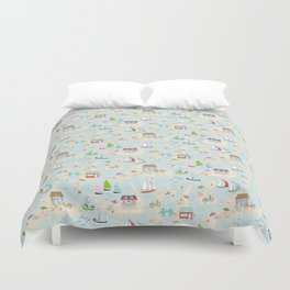 Summer On The Islands Duvet Cover