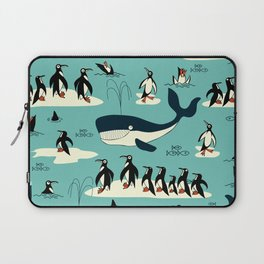 Whales and penguins Laptop Sleeve