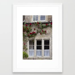 English Garden - Window Framed Art Print